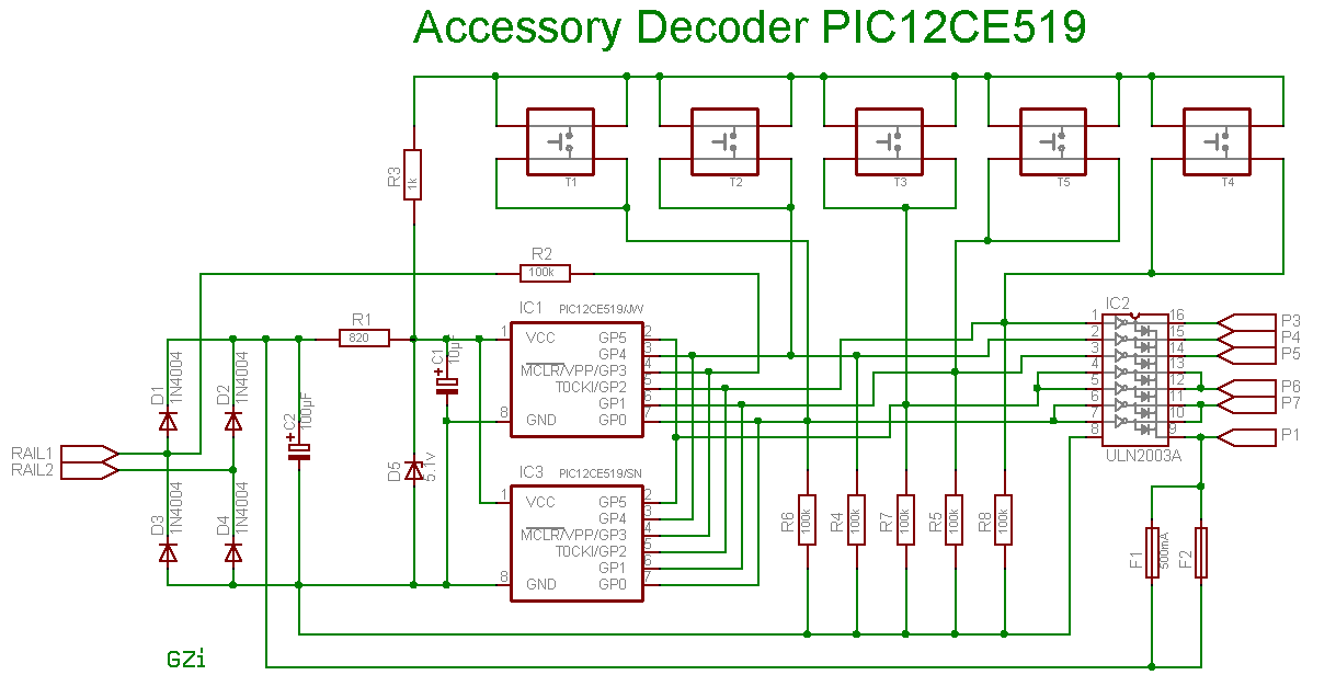 description of the nmra dcc point decoder with pic12ce519. Black Bedroom Furniture Sets. Home Design Ideas
